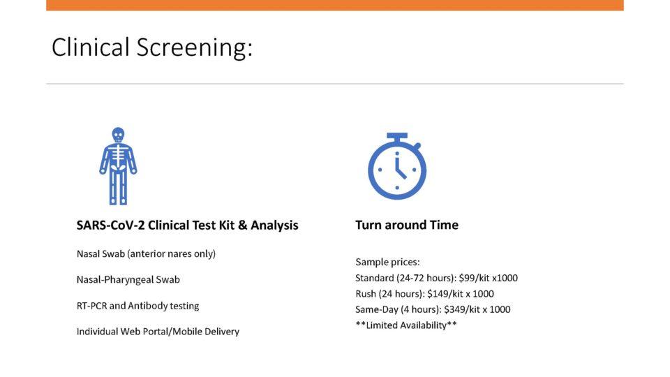 COVID-19 Testing Employee Environmental FDA Easy Mail-in